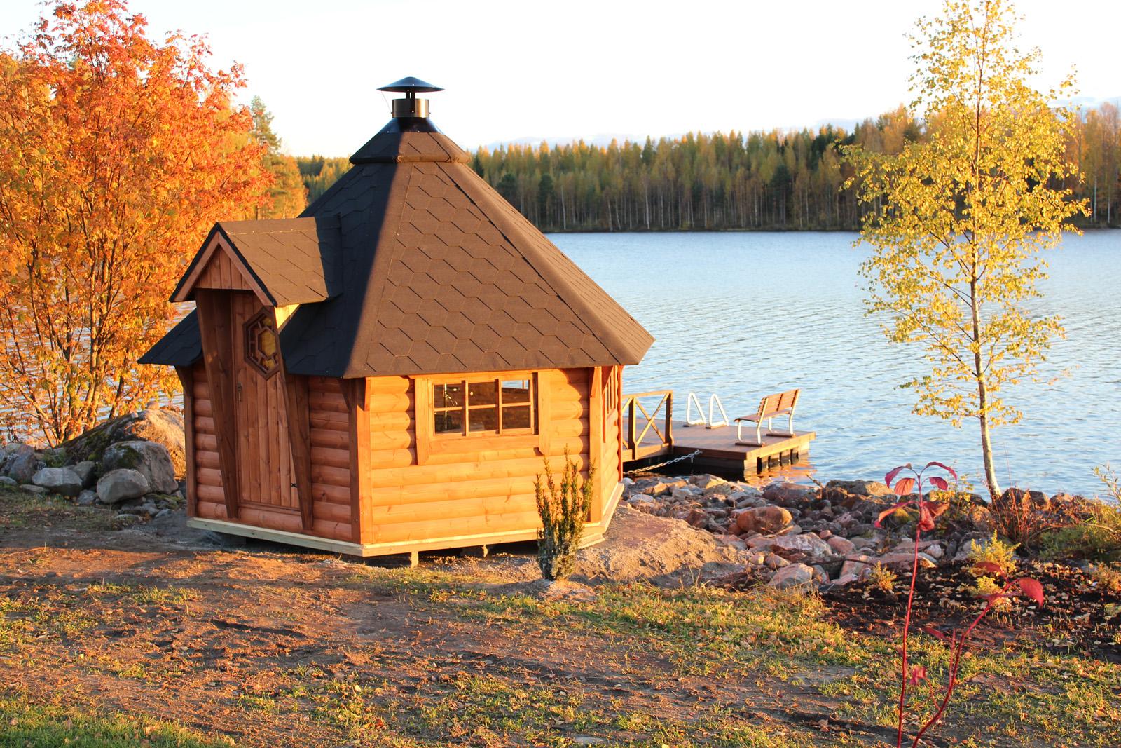 Bbq Hut Gazebo And Sauna Hut Garden Grillhouse Outdoor